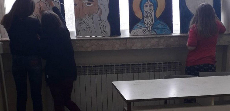 Фреске за Светог Саву